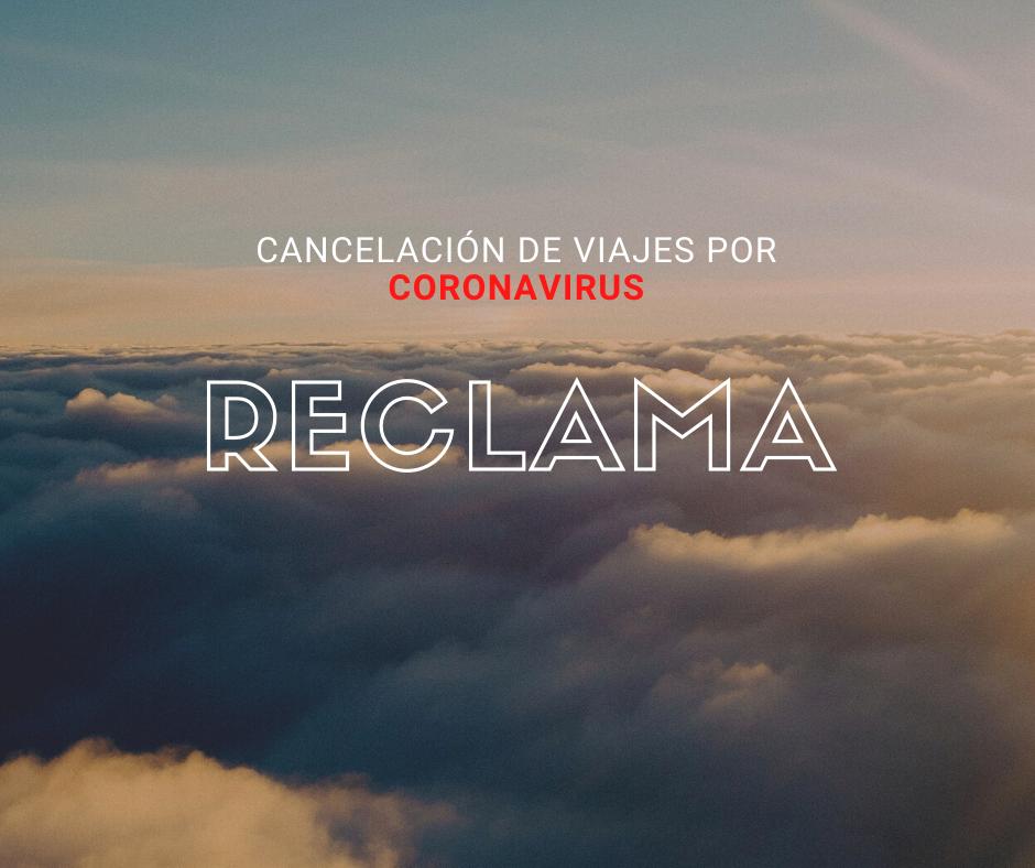 cancelación viajes coronavirus