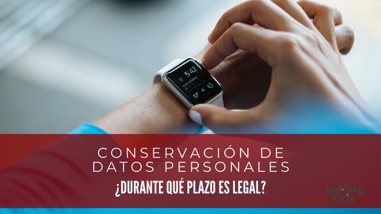 Conservación datos personales